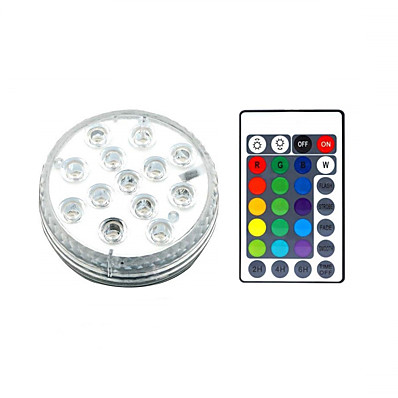 cheap Outdoor Lighting-13 LED Submersible Lights Remote Controlled RGB Changing Underwater Waterproof Lights for Swimming Pool Fountain Aquarium Vase Hot Tub Bathtub Party 1Pack