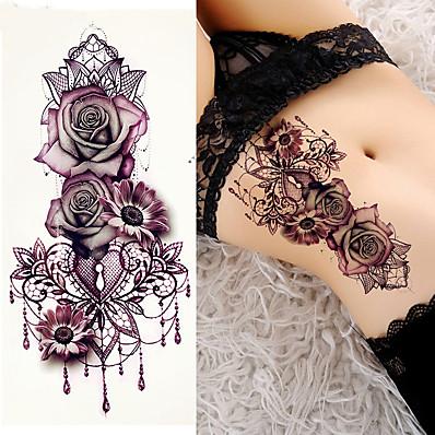 cheap Tattoos & Body Art-3 pcs Temporary Tattoos brachium / Shoulder Smooth Sticker / Safety Card Paper