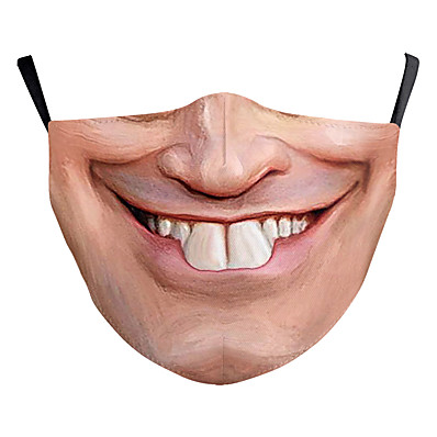 abordables ACCESSORIES-Face cover Homme Polyester Taille unique Beige 1 pc / paquet Adultes Anti UV Quotidien basique Toutes les Saisons