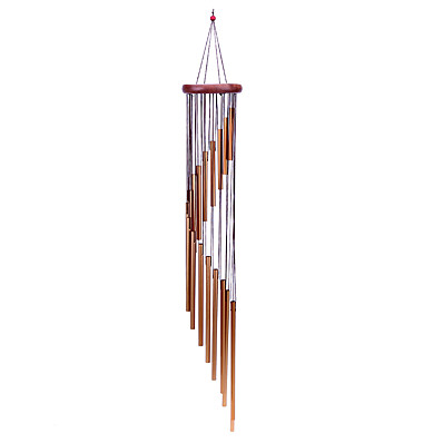 cheap Home Improvement-18 Tubes Wind Chimes Metal Wind Bells Handmade Ornament Garden Hanging Decor