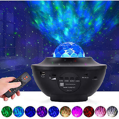 cheap Audio & Video-LED Starry Galaxy Projector Night Light Ocean Wave Projection with Bluetooth Music Speaker 8W LED 10 Colors 21 Lighting Modes Brightness Levels Adjustable with Remote Control-LITBest