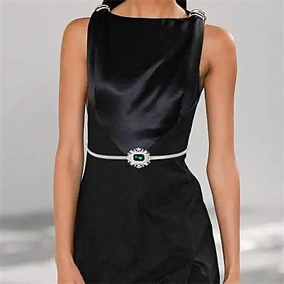 cheap Accessories-Women's Waist Belt Alloy Belt Solid Colored / Party / Work