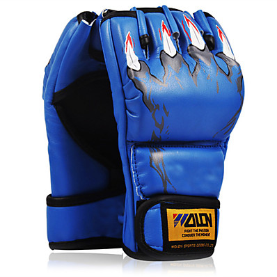 cheap Boxing & Martial Arts-Boxing Bag Gloves Pro Boxing Gloves Boxing Training Gloves For Mixed Martial Arts (MMA) Fingerless Gloves Protective Sponge Unisex - Black Red Blue