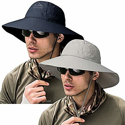 cheap Fishing-Adults Wide Brim Sun Hat Summer Camping & Hiking Fishing Waterproof Breathable Quick Dry