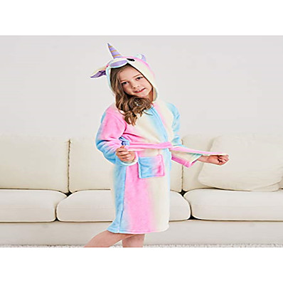 cheap Kids in home-Kids Girls' Basic Striped Drawstring Sleepwear Rainbow