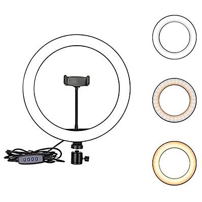 cheap Indoor Lighting-2pcs 1pcs 26cm 10inch LED Selfie Ring Light Dimmable LED Ring Lamp Photo Video Camera Phone Light ringlight For Live YouTube Fill Light