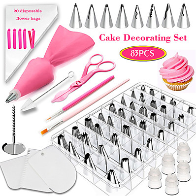 cheap Kitchen & Dining-83Pcs Baking Set Set Cake Decorating Mouth Tool Fondant Coloring Pen Appliance Novice Household Cake Mold