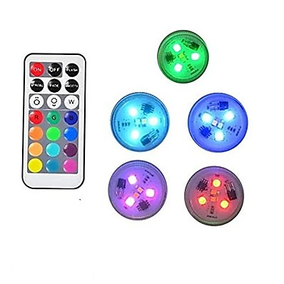 cheap Outdoor Lighting-5pcs 10pcs Submersible lamps Underwater LED Light Indoor Outdoor Waterproof Candle Lights Mini Pool Vase Lamp with Remote Control RGB