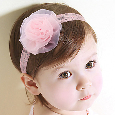 cheap Kids' Accessories-1pcs Toddler Girls' Sweet Floral Floral Style Lace Hair Accessories Blushing Pink One-Size