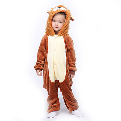 cheap Kids in home-Kids Girls' Active Solid Colored Sleepwear Brown