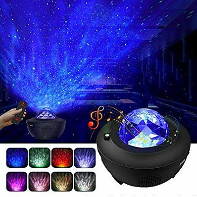 cheap Audio & Video-Night Light Projector  Galaxy Projector Starry Sky Projector Lamp with Remote Control 2 in 1 Star Projector with LED Nebula Cloud Moving Ocean Wave Projector for Kid Baby Built-in Music Speaker Voice