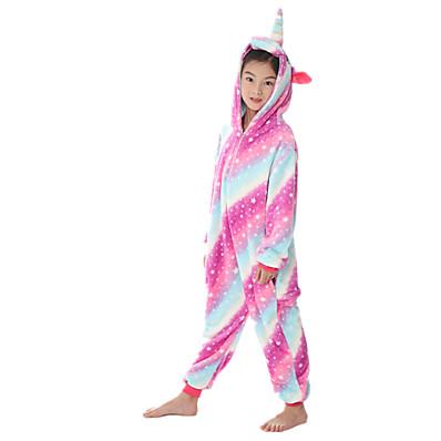 cheap Kids in home-Kids Girls' Active Rainbow Zipper Sleepwear Purple