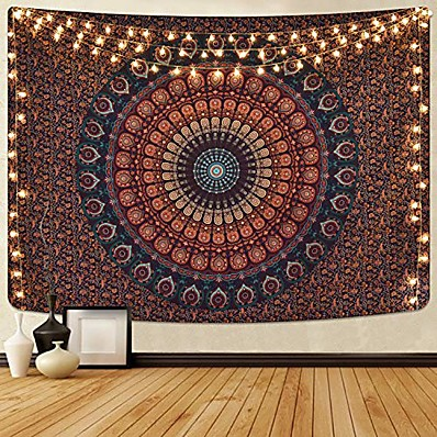 cheap Wall Hangings-Mandala Bohemian Wall Tapestry Art Decor Blanket Curtain Hanging Home Bedroom Living Room Dorm Decoration Boho Hippie Psychedelic Floral Flower Lotus Indian