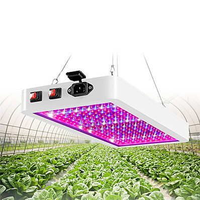 cheap Indoor Lighting-1pc Artoo Double Switch LED grow light 216 leds 312 leds Full Spectrum for Indoor Greenhouse Grow Tent Phyto Lamp for Plants