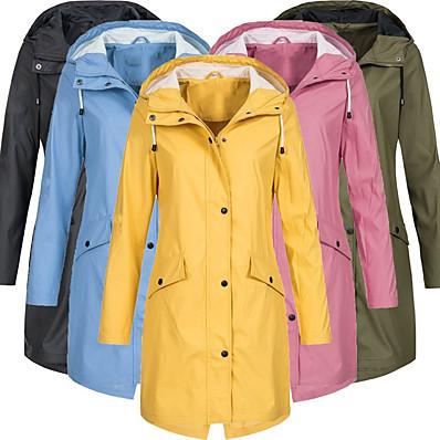 cheap Camping, Hiking & Backpacking-Women's Hoodie Jacket Hiking Jacket Rain Jacket Winter Outdoor Thermal Warm Waterproof Windproof Breathable Coat Top Cotton Camping / Hiking Hunting Fishing Black Yellow Pink
