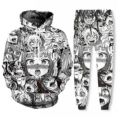 cheap Everyday Cosplay Anime Hoodies & T-Shirts-Inspired by Ahegao Pants Cosplay Costume Ahegao 3D Terylene Pants Printing Harajuku Graphic For Men's / Women's / Hoodie / Hoodie