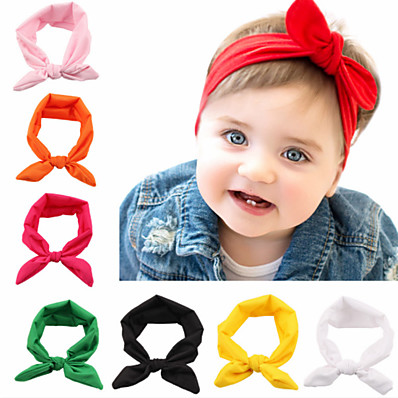 cheap Kids' Accessories-1pcs Toddler / Infant Girls' Basic Black / White / Blue Solid Colored Pure Color Spandex / Cotton Hair Accessories White / Black / Purple One-Size