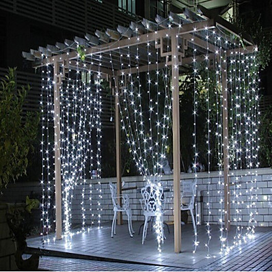 cheap LED String Lights-300 LEDs Curtain String Lights with Remote Control 3x3M Christmas Décor Lights for Christmas New Year's Curtain Window Roof String Lights
