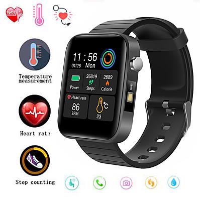 cheap Smart Electronics-F68 Smart Watch Men Body Temperature Measure Heart Rate Blood Pressure Oxygen Bracelet Call Reminder Smart Watch Black Pink