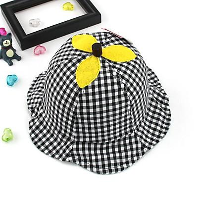 cheap Kids' Accessories-1pcs Toddler Unisex Active Black Check Cotton Hats & Caps Black / Blushing Pink One-Size