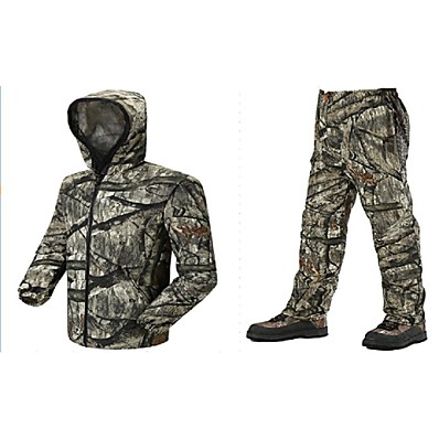 cheap Hunting & Nature-Men's Unisex Hunting Jacket with Pants Outdoor Windproof Quick Dry Breathable Wear Resistance Spring Summer Camo / Camouflage Clothing Suit Polyester Camping / Hiking Hunting Fishing Jungle camouflage