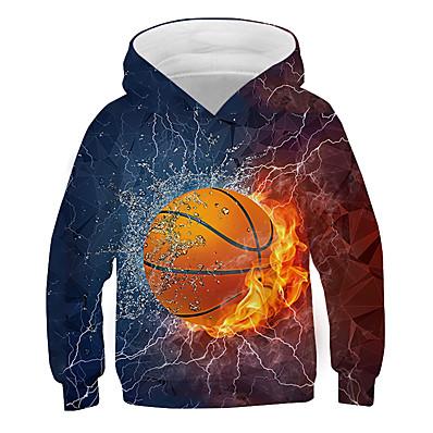 cheap Boys' Clothing-Kids Boys' Hoodie & Sweatshirt Long Sleeve Graphic 3D Print Rainbow Children Tops Active New Year