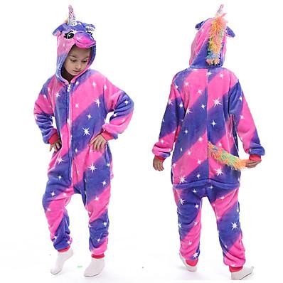 cheap Kids in home-Kids Girls' Active Graphic Print Sleepwear Purple