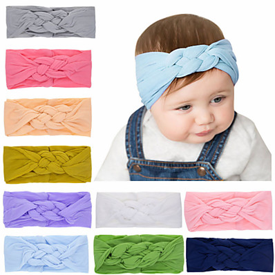 cheap Kids' Accessories-1pcs Toddler / Infant Girls' Sweet White / Blue Solid Colored Pure Color Nylon Hair Accessories White / Purple / Yellow One-Size