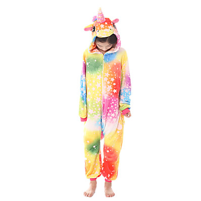 cheap Kids in home-Kids Girls' Active Rainbow Zipper Sleepwear Rainbow