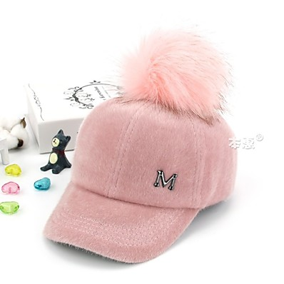 cheap Kids' Accessories-1pcs Kids Unisex Basic Letter Embroidery / Patchwork Cotton Hats & Caps Black / Blushing Pink / Dark Gray One-Size