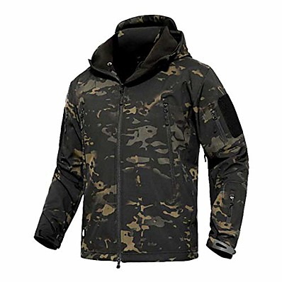 cheap Hunting & Nature-Hunting Jacket Outdoor Thermal Warm Waterproof Windproof Wear Resistance Coat Top Camping / Hiking Hunting Fishing Jungle camouflage Desert Camouflage Sand Yellow