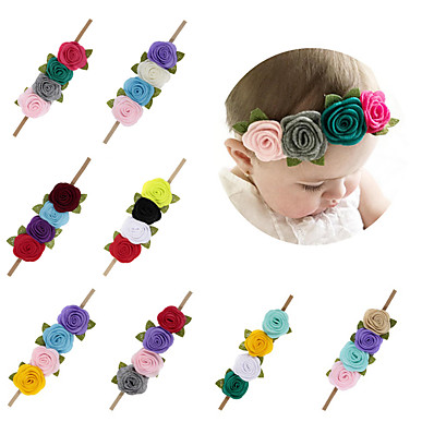 cheap Kids' Accessories-1pcs Infant Girls' Sweet Floral Floral Style Hair Accessories Purple / Red / Yellow One-Size