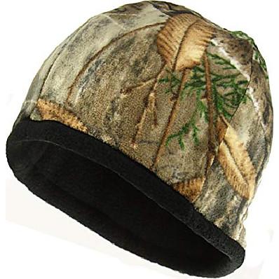cheap Hunting & Nature-camo beanie (realtree edge/black micro fleece)