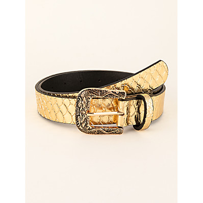 cheap Accessories-Women's Waist Belt Gold Party Street Dailywear Casual Belt Pure Color / Work / Basic / Fall / Winter / Spring