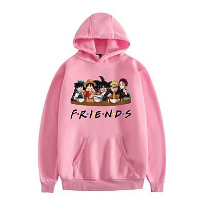 cheap Everyday Cosplay Anime Hoodies & T-Shirts-Inspired by Naruto Cosplay Costume Hoodie Goku Monkey D. Luffy Midoriya Izuku Graphic 100% Polyester Hoodie Printing Harajuku Graphic For Women's / Men's