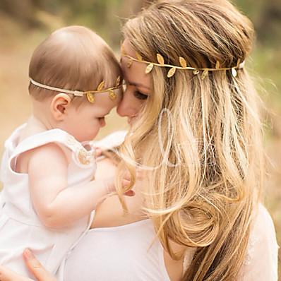 abordables Accessoires Enfants-2pcs Bébé / Nourrisson Unisexe Actif Arbres / Feuilles Accessoires Cheveux Dorée / Argent Taille unique
