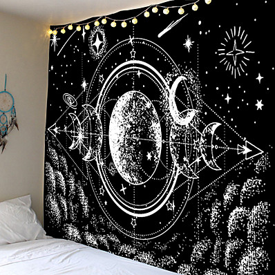 cheap Wall Hangings-Wall Tapestry Art Decor Blanket Curtain Picnic Tablecloth Hanging Home Bedroom Living Room Dormitory Decoration Meteor Moon