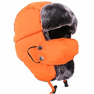 cheap Hunting & Nature-orange ushanka russian snow winter hunting fur hat