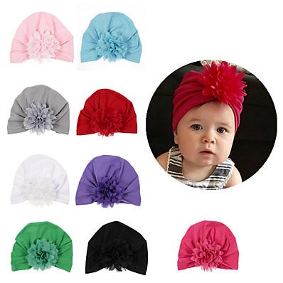 cheap Kids' Accessories-1pcs Infant Unisex Active Solid Colored Bow Hats & Caps White / Black / Blue