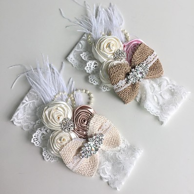 cheap Kids' Accessories-1pcs Toddler Girls' Sweet Floral Floral Style Hair Accessories Khaki / Beige
