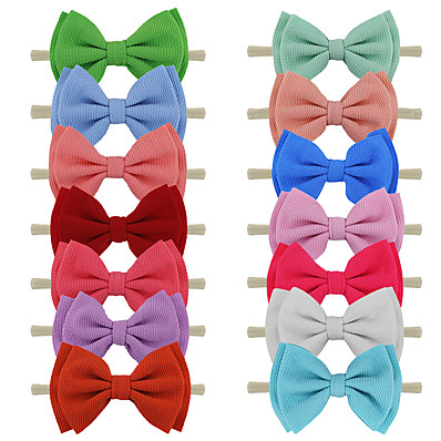 cheap Kids' Accessories-1pcs Toddler Girls' Sweet Solid Colored Bow Hair Accessories White / Black / Purple
