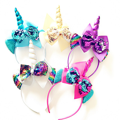 cheap Kids' Accessories-1pcs Toddler Girls' Sweet Floral Bow Hair Accessories White / Blue / Purple
