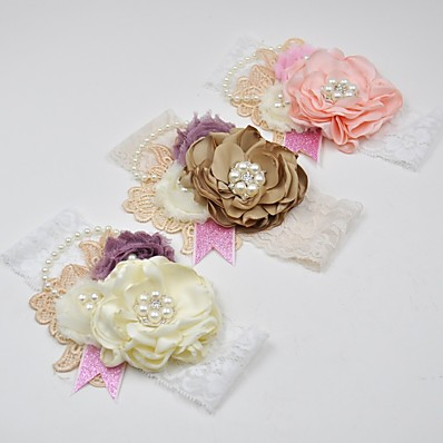 cheap Kids' Accessories-1pcs Infant Girls' Active Floral Floral Style Hair Accessories Blushing Pink / Khaki / Beige