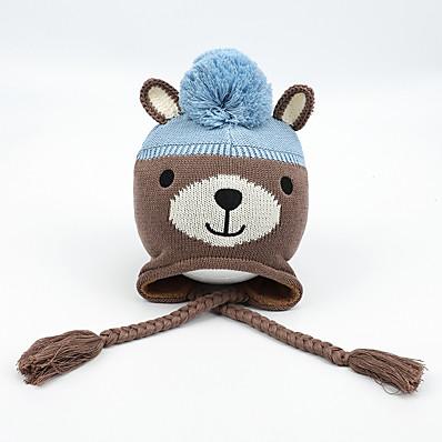 cheap Kids' Accessories-1pcs Kids / Toddler / Infant Unisex Active Animal Knitwear / Cotton Hats & Caps Brown S / M / L