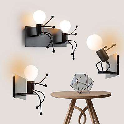 저렴한 실내 조명-귀여운 현대 북유럽 스타일의 벽 램프 벽 sconces led 벽 조명 침실 상점 카페 철 벽 조명 110-120v 220-240v