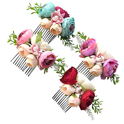 cheap Kids' Accessories-1pcs Kids Girls' Sweet Floral Floral Style Hair Accessories Purple / Red / Blushing Pink