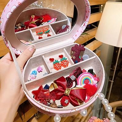 cheap Kids' Accessories-Kids / Toddler Girls' Active / Sweet Cartoon Hair Accessories Blue / Yellow / Blushing Pink
