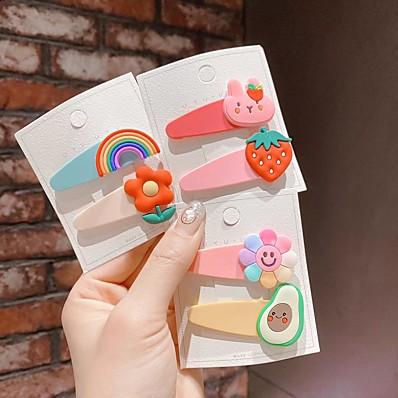 cheap Kids' Accessories-3pcs / 2pcs Kids / Toddler Girls' Active / Sweet Cartoon Hair Accessories White / Yellow / Blushing Pink One-Size