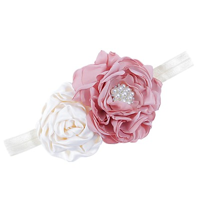cheap Kids' Accessories-1pcs Kids / Toddler Girls' Active White Floral Polyester Hair Accessories White / Purple / Blushing Pink One-Size