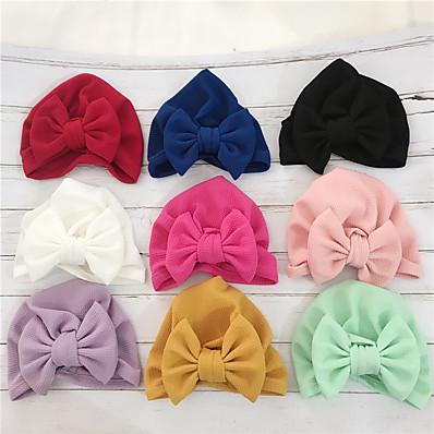 cheap Kids' Accessories-1pcs Infant Unisex Active / Sweet Solid Colored Bow Hats & Caps White / Black / Purple
